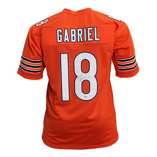 Taylor Gabriel Pro Style Autographed Football Jersey Orange (Beckett)