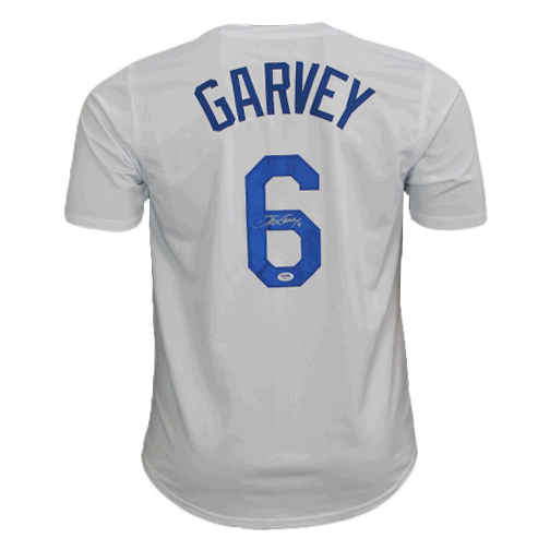 Steve Garvey Autographed Special Throwback Pro Style Baseball Jersey White (PSA)