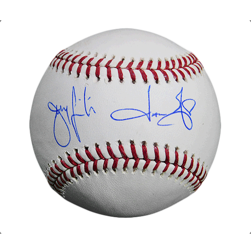Jason & Jeremy Giambi Dual-Signed Rawlings Official MLB Baseball (PSA)