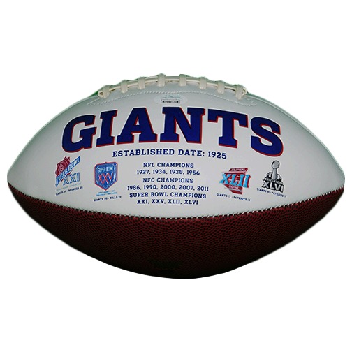 Carl Banks Autographed New York Giants Logo Football (JSA)