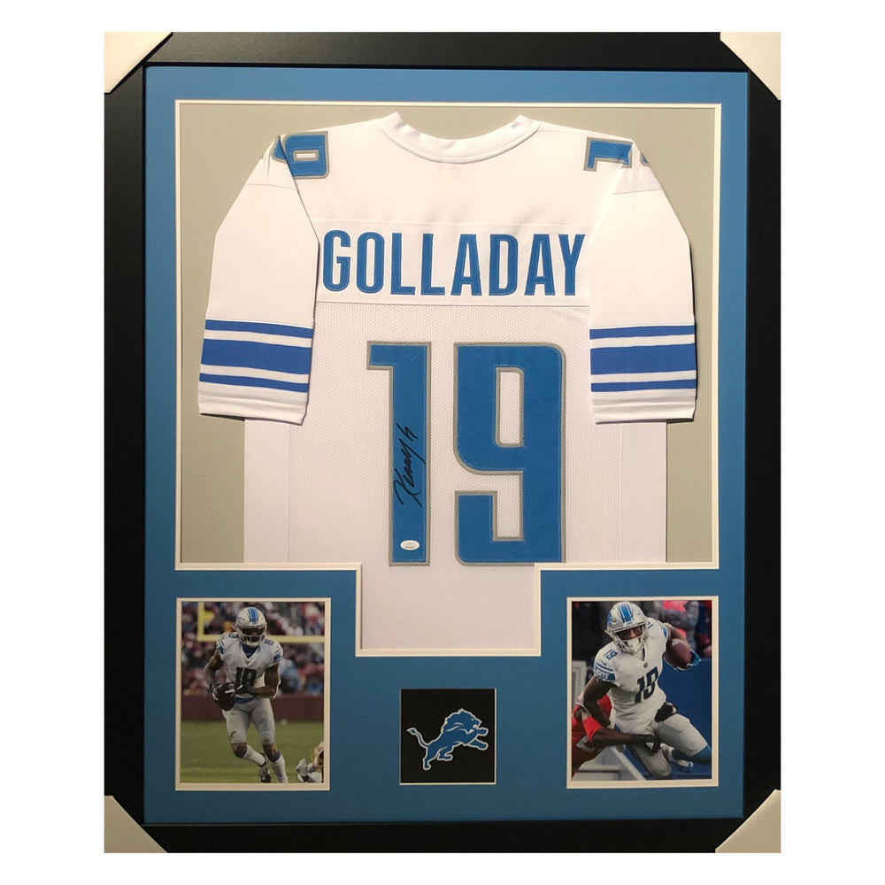 golladay lions white autographed framed football jersey