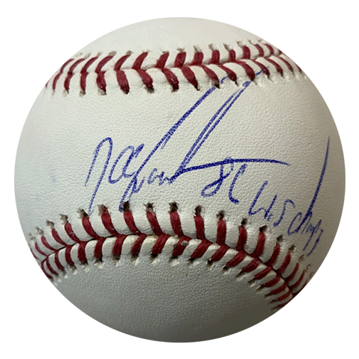 "Dwight ""DOC"" Gooden Autographed Official Major League Baseball (JSA) 86 World Series Inscription Included"