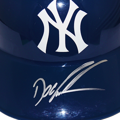 "Dwight ""Doc"" Gooden New York Yankees Autographed Full Size Souvenir Baseball Batting Helmet (JSA COA)"