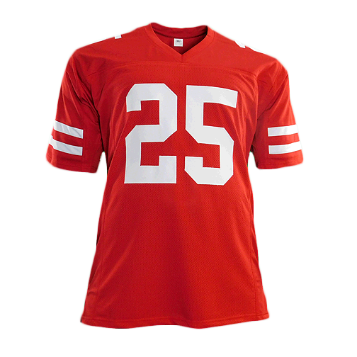 Melvin Gordon Signed College Stat Edition Football Jersey Red (Radtke-Gordon)