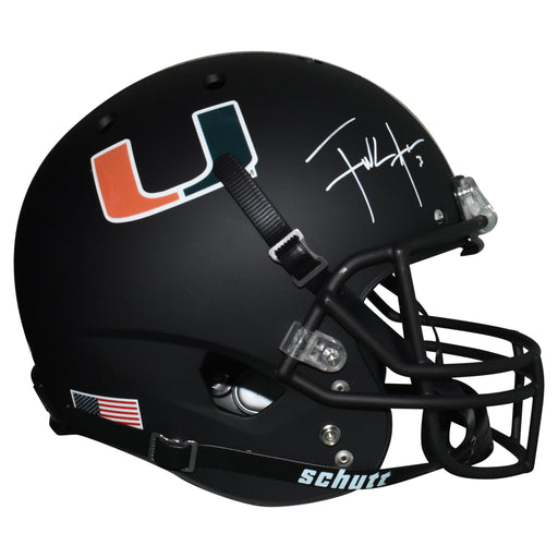 Frank Gore Signed Miami Hurricanes Full-Size Schutt Replica Football Helmet (JSA)
