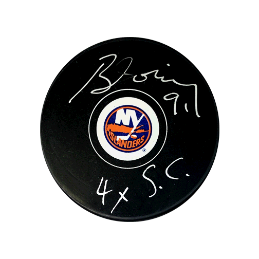 Butch Goring Autographed New York Islanders Hockey Puck (JSA COA) 4x Stanley Cup Inscription Included