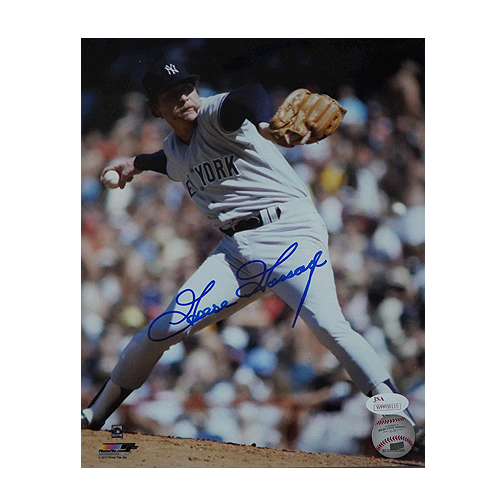 Goose Gossage Signed New York Yankees Mid-Pitch 8x10 Photo (JSA)