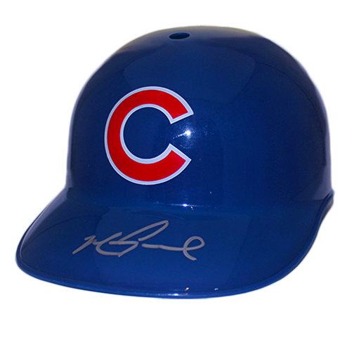 Mark Grace Chicago Cubs Autographed Full Size Souvenir Baseball Batting Helmet (JSA COA)