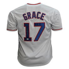 Mark Grace Throwback Autographed Pro Style Baseball Jersey White (JSA COA)