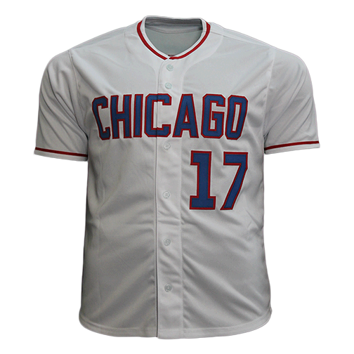 Mark Grace Throwback Autographed Pro Style Baseball Jersey White (JSA)