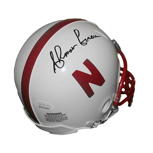 Ahman Green Autographed Nebraska Football Mini Helmet (JSA)
