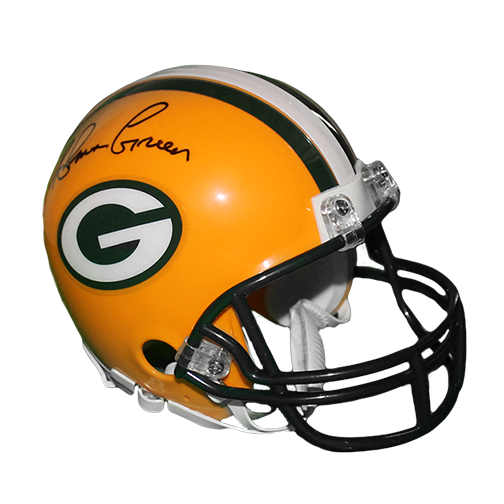 Ahman Green Autographed Green Bay Packers Football Mini Helmet (JSA)