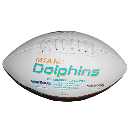 Bob Griese Miami Dolphins Football (JSA-Certified)