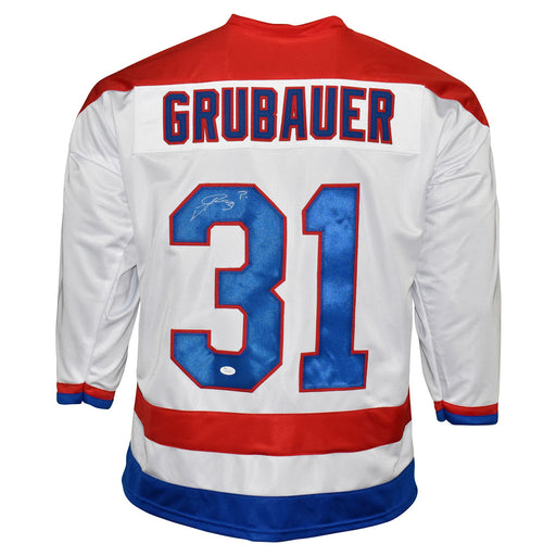 Philipp Grubauer Signed Washington White Hockey Jersey (JSA)