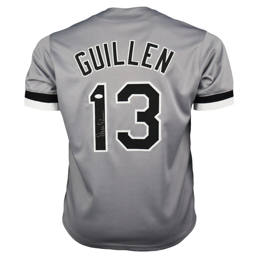 Ozzie Guillen Signed Chicago Pro-Edition Gray Baseball Jersey (JSA)