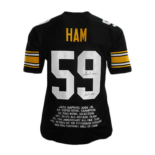 Jack Ham Signed HOF '88 Pro Edition Stat Football Jersey (JSA)
