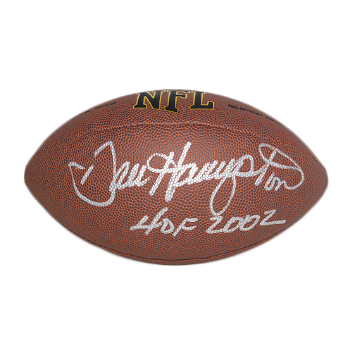 Dan Hampton Signed HOF '02 Official NFL Football (JSA)