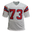 John Hannah Autographed Pro Style Football Jersey White (JSA) w/ Inscription