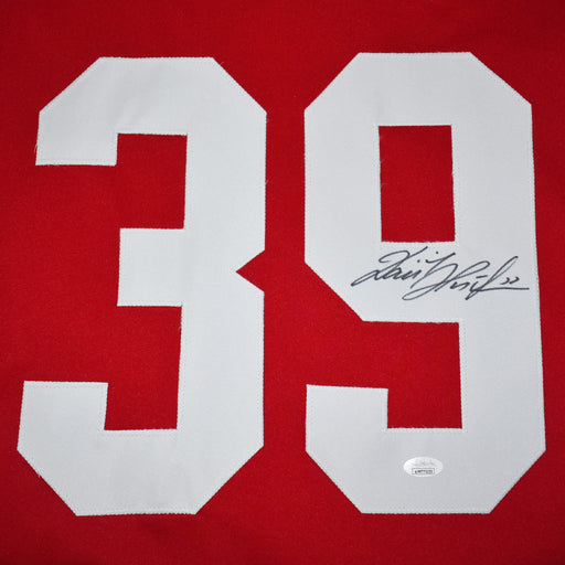 Dominik Hasek Signed Detroit Pro-Edition Red Hockey Jersey (JSA)