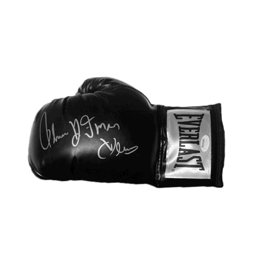 "Thomas ""Hitman"" Hearns Autographed Black Boxing Glove JSA COA"