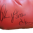 "Thomas ""Hitman"" Hearns Autographed Boxing Glove Red JSA"