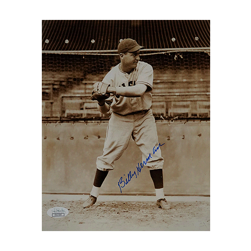 Billy Herman Signed Boston Red Sox Pose 8x10 Photo (JSA)