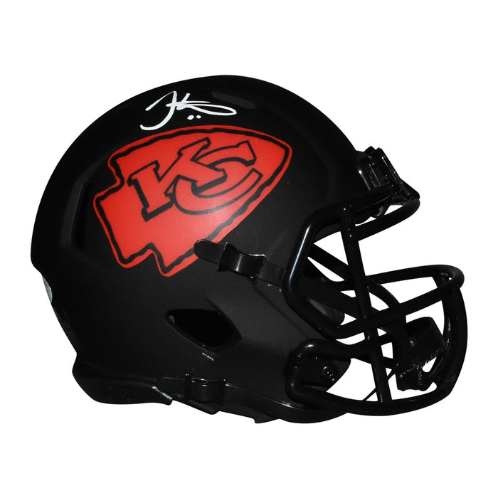 Tyreek Hill Signed White Ink Kansas City Chiefs Eclipse Speed Mini Replica Football Helmet (JSA)