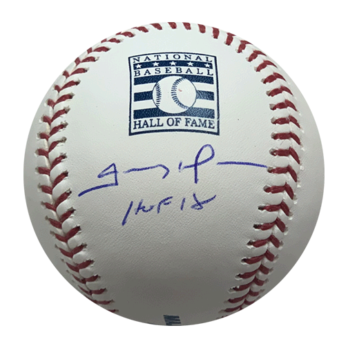 Trevor Hoffman Autographed Hall of Fame Logo Official Major League Baseball (JSA) HOF Inscription