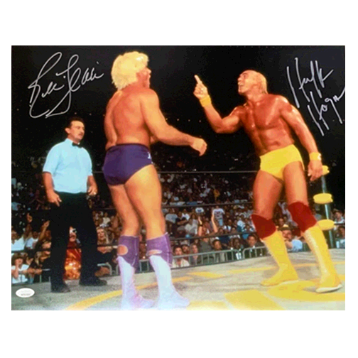 """Steal of the Day!"" Hulk Hogan & Ric Flair Dual Autographed 16 x 20 (JSA COA)"
