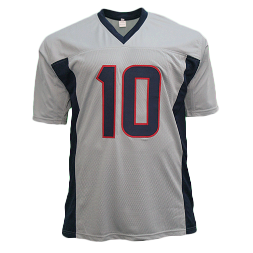 DeAndre Hopkins Autographed Pro Style Football Jersey Grey (JSA)
