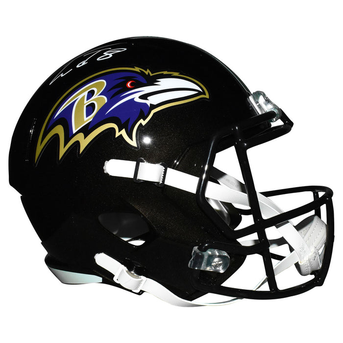 Lamar Jackson Baltimore Ravens Autographed Full-Size Speed Replica Helmet (JSA Witness))