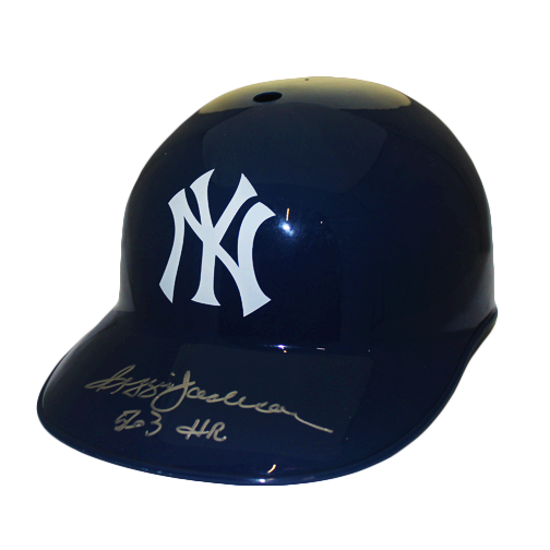 Reggie Jackson New York Yankees Autographed Full Size Souvenir Baseball Batting Helmet (JSA) 563 HR Inscription