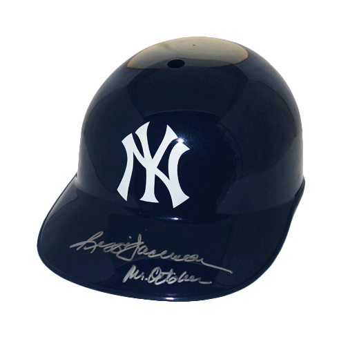 Reggie Jackson New York Yankees Autographed Full Size Souvenir Baseball Batting Helmet (JSA COA) Mr. October Inscription