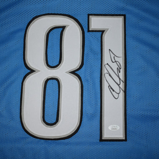 Calvin Johnson Signed Pro-Edition Blue Football Jersey (JSA)