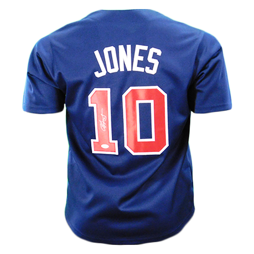 Chipper Jones Signed Atlanta Blue Jersey (JSA)