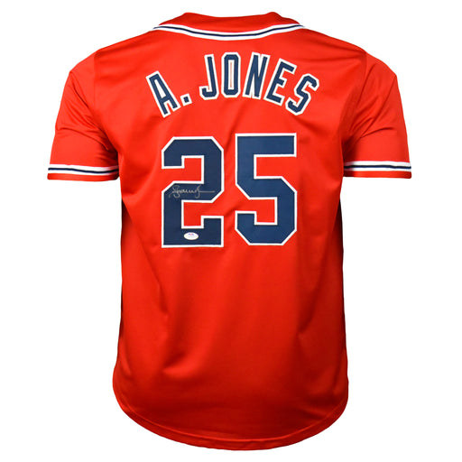 Andruw Jones Signed Atlanta Pro-Edition Red Baseball Jersey (PSA)