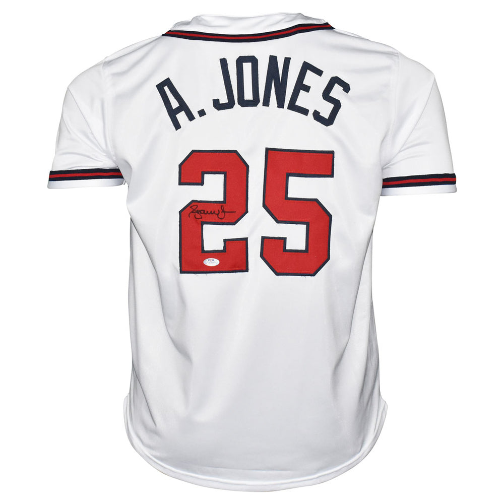 Andruw Jones Signed Atlanta White Baseball Jersey (PSA)