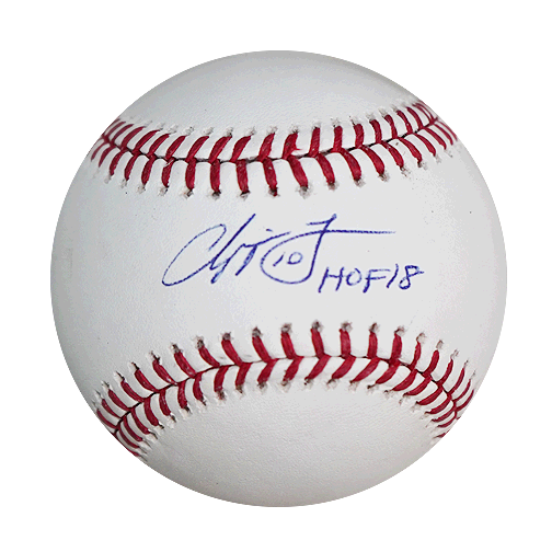 Chipper Jones Autographed HOF '18 MLB Baseball (JSA)