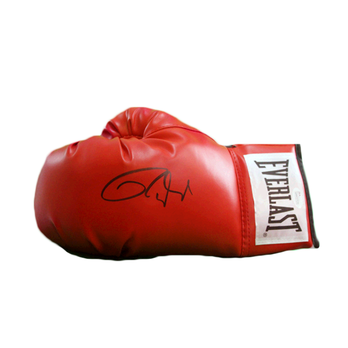 Roy Jones Jr Autographed Boxing Glove Red JSA Authenticated