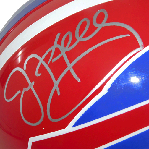 Jim Kelly Signed Buffalo Bills Full-Size Replica Football Helmet (JSA)
