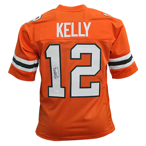 Jim Kelly Autographed college style Football Jersey Orange (JSA)
