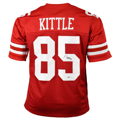 George Kittle Signed Pro-Edition Red Football Jersey (Beckett)