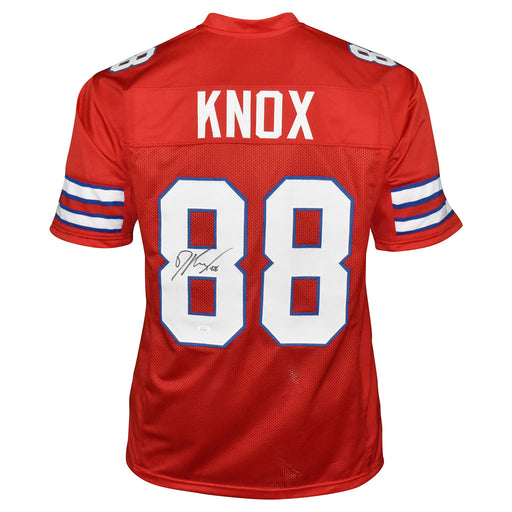 Dawson Knox Signed Buffalo Pro Red Football Jersey (JSA)