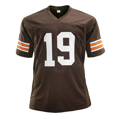 Bernie Kosar Signed Pro Edition Brown Football Jersey (JSA)