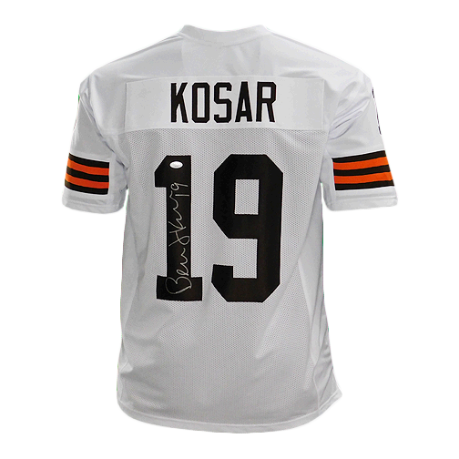 Bernie Kosar Signed Pro Edition White Football Jersey (JSA)