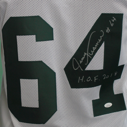 Jerry Kramer Green Bay Packers Autographed Football White Throwback (JSA) HOF Inscription Included