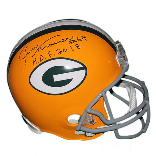 Jerry Kramer Green Bay Packers Autographed Full Size Replica Football Helmet Yellow (JSA COA) HOF Inscription Included