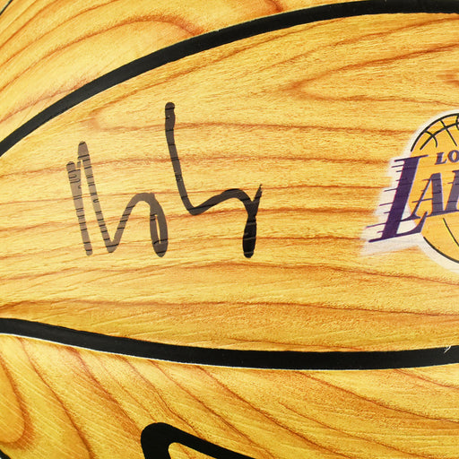 Kyle Kuzma Signed Los Angeles Lakers NBA Hardwood Series Wood Grain Basketball (Beckett)