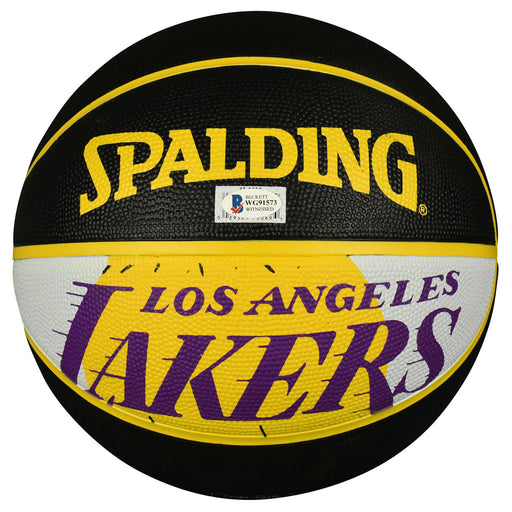Kyle Kuzma Signed Los Angeles Lakers NBA Team Logo Black Basketball (Beckett)