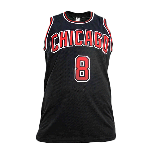 Zach LaVine Signed Chicago Pro Edition Basketball Jersey Black (Beckett)